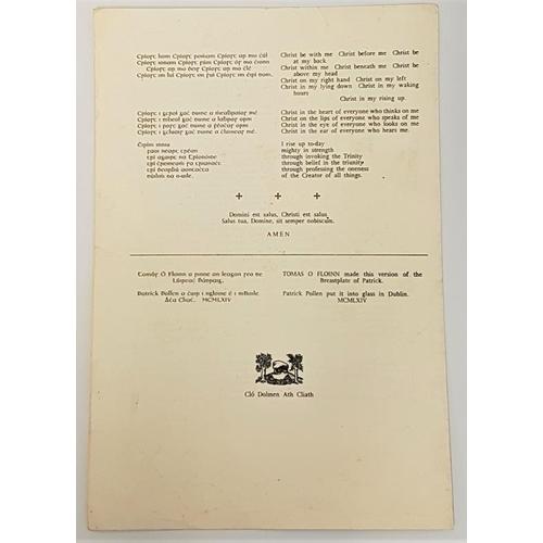 635 - Lúireach Phadraig.<em> Patrick's Breastplate. Saint Patrick's Murlog Co. Donegal</em> [1964] single ...