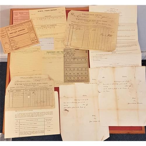 637 - <em>Ephemera;</em> official forms mostly unused: driving licences; publican cert; receipts; pension ...