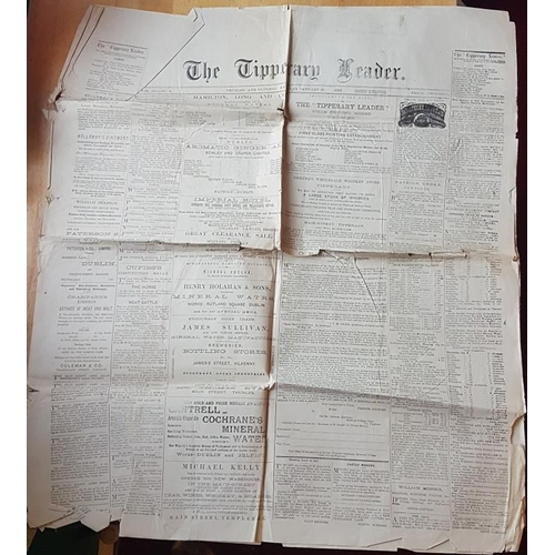 641 - Newspaper, <em>The Tipperary Leader, Jan 20 1884</em>....