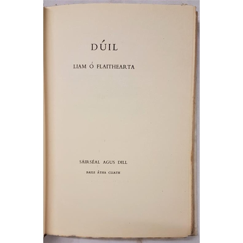647 - O'Flaherty, Liam. <em>Dúil.</em> Limited first edition (99/500). Signed by Liam O'Flaithearta. Dust ...