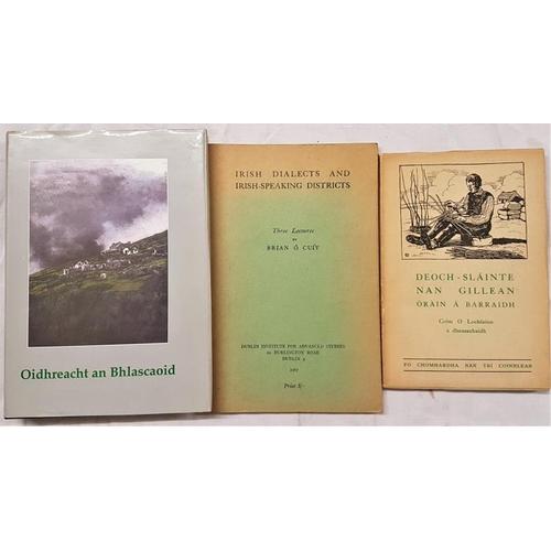 656 - Ó Cuiv, Brian.<em> Irish Dialects and Irish-Speaking Districts</em>. O Lochlainn, Colm. <em>Deoch-Sl...