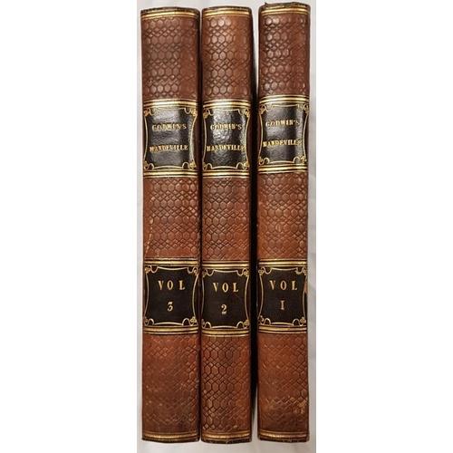 661 - Goodwin, William. <em>Mandeville</em>. Three volumes - 1817. Attractive Half Leather...