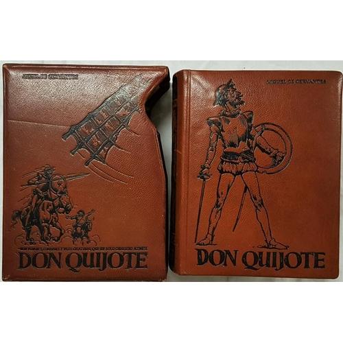 664 - Fine Binding. Cervantes, Miguel De. <em>Don Quixote.</em> Valencia. Full brown goatskin. In matching...
