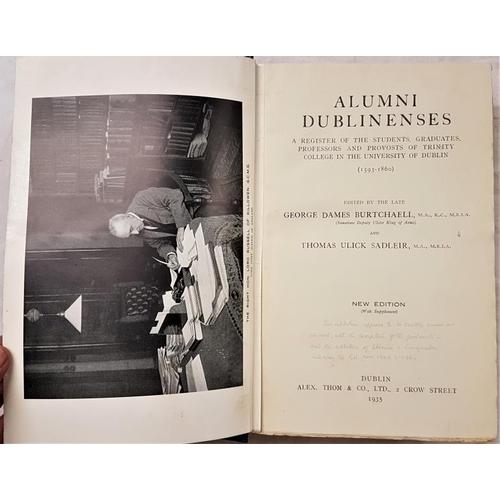 677 - Burtchaell and Sadlier. <em>Alumni Dublinensis</em> 1935...