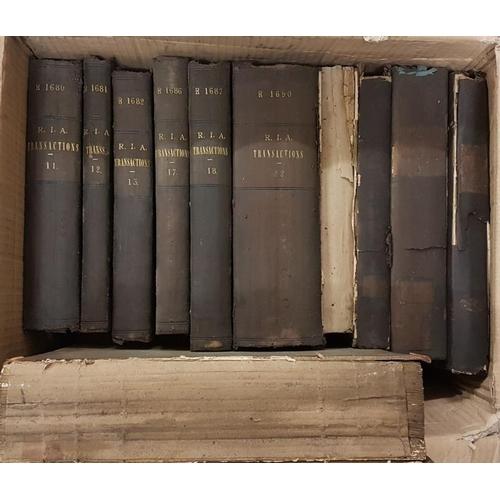 14 - <em>Proceedings and Translations of the Royal Irish Academy</em> - box of bound volumes...