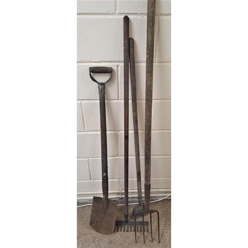 12 - A Spade, Rake, Hoe and a Fork (4)...