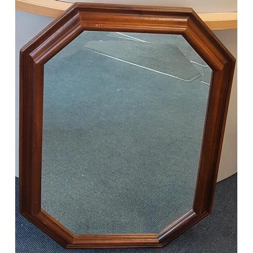 28 - Mahogany Bevelled Wall Mirror - 22 x 30ins...