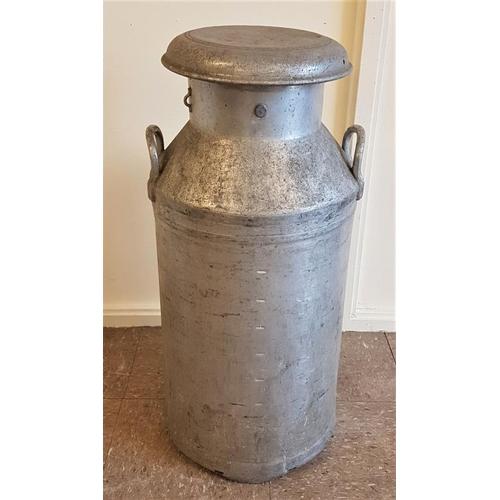 30 - Aluminium Creamery Can with Lid (Kilcock) - 29ins tall...