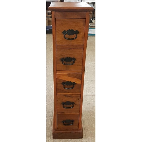 32 - Bank of Five Drawers - 10 x 42ins...