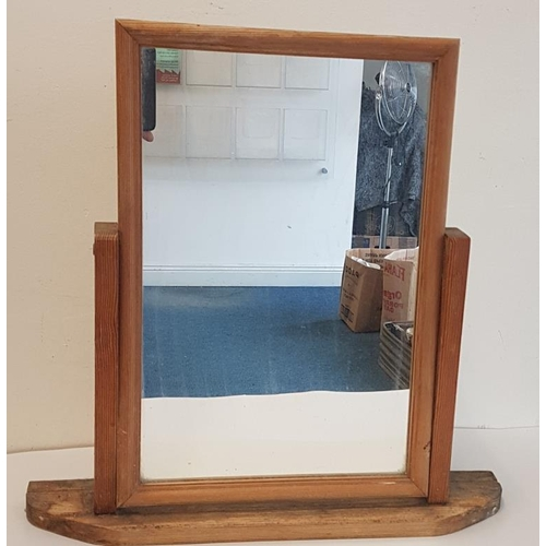37 - Pine Shaving Mirror - 17.5 x 17ins...