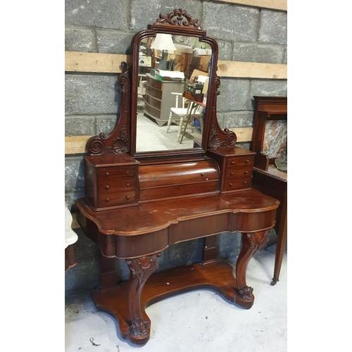 97 - Victorian Mahogany Duchess Dressing Table - 47.5 x 22.5 x 76ins...