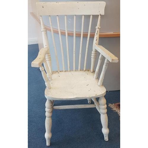 99 - Painted Kitchen Armchair...