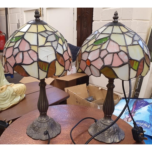 101 - Pair of Art Nouveau Style Table Lamps (A/F)...