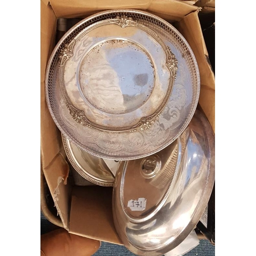 103 - Box of Various Silverplate Items...