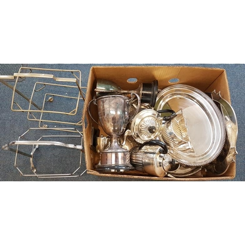 106 - Box of Mixed Silver Plated Items...
