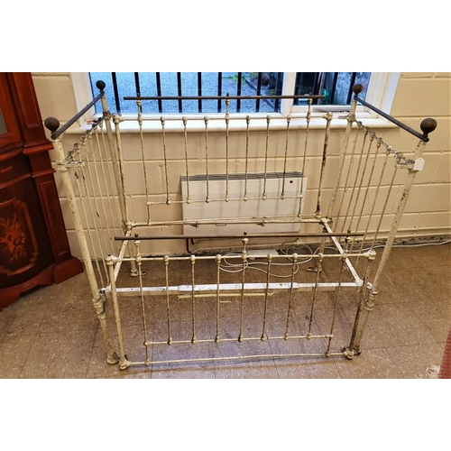 110 - Victorian Brass and Iron Child's Cot (as found)...