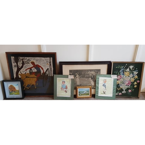 122 - Bundle of Seven Various Pictures and Prints etc....