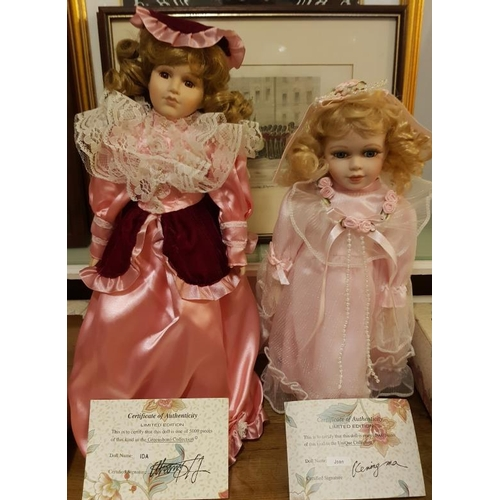 125 - Two Limited Edition Porcelain Dolls - Joan and Ida - in original boxes with Certificates of Authenti...