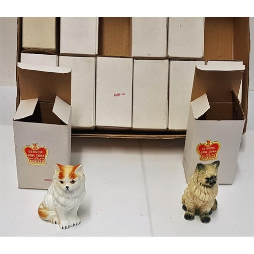 127 - Collection of Posey Holders and Various Trinket Boxes etc. and a Collection of Twelve China Cats...