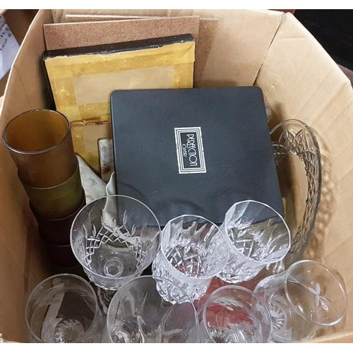 129 - Box and Contents to include Tea Light Holders, etc....