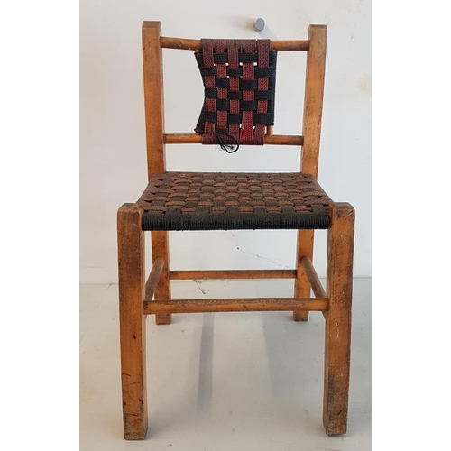 130 - Hand Crafted and Woven Seat Child's Chair...