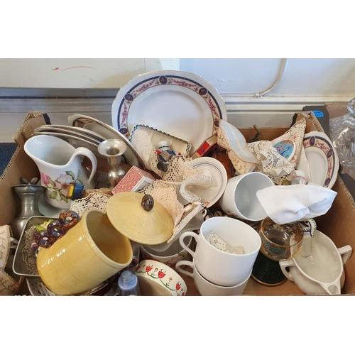 132 - Box of Various Ceramics, etc....