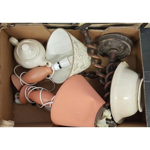 141 - Box of Various Lamps, etc....