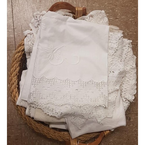 430 - Basket of Table Linen...