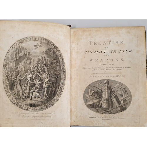 12 - Francis Grose. <em>A Treatise on Ancient Armour and Weapons</em>. 1786. Full page copper plates. Fin...