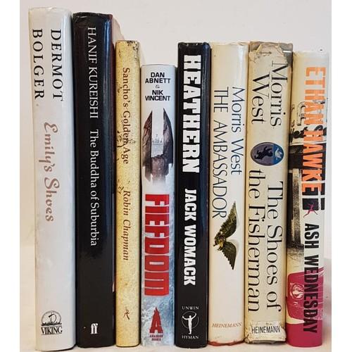 16 - Dermot Bolger, <em>Emily's Shoes</em>, signed, 1992, dj and six other books...