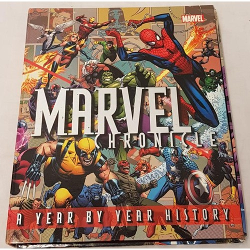 17 - <em>'Marvel Chronicle'</em>: a year by year history. 1st Edition, with signed picture. Dorling Kinse...