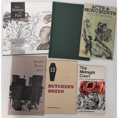 18 - Kinsella, <em>Butcher's Dozen</em>,<em> 13</em>; <em>Castle Poets</em> 1977; <em>Acts and Monuments<...