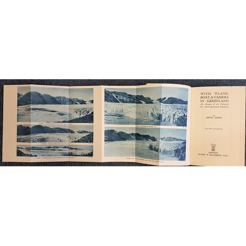 27 - E. Sorge. <em>With Plane Boat & Camera</em>. An Account of The Frank Greenland Expedition 1933. ...