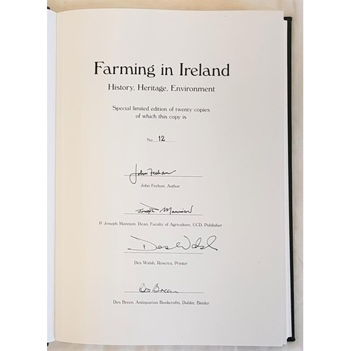 29 - John Feehan, <em>Farming in Ireland</em> ..history, heritage and environment (2003). 605 pages. Foli...