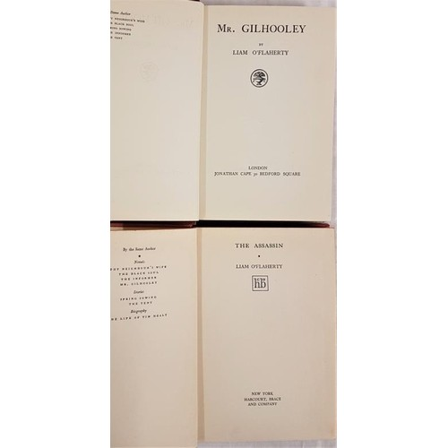 38 - Liam O'Flaherty. <em>Mr. Gilhooley.</em> 1926. Ist edit. Dust jacket and L.O'Flaherty <em>The Assass...