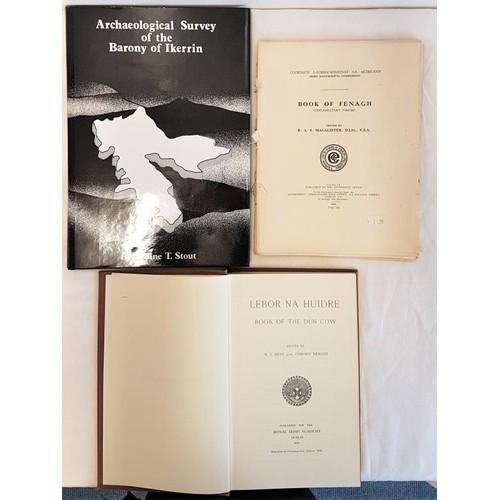 43 - <em>Lebhor na hUidhre</em> (RIA 1929); <em>Book of Fenagh</em>, supplementary vol, 1939 unbound copy...