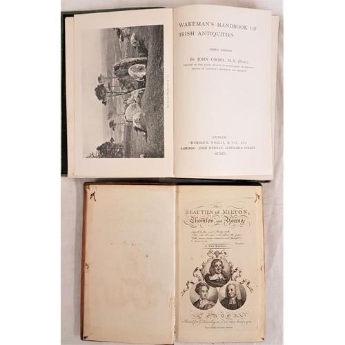 47 - J. Cooke. <em>Wakeman's Hand book of Irish Antiquities</em>. 1903 and <em>The Beauties of Milton.</e...