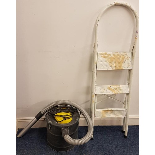 1 - Step Ladder and Ash Vac Hoover...