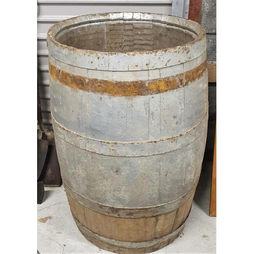 3 - Old Coopered Barrel - 34.5ins tall...