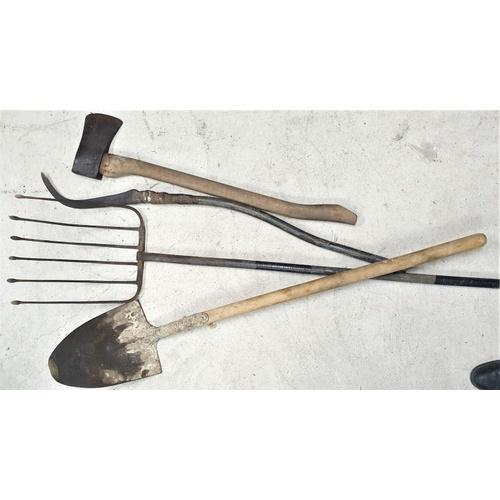 7 - Shovel, Beet Fork and an Axe...