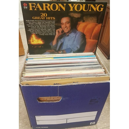 24 - Box of Musical Records c. 100...