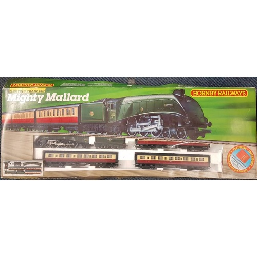 92 - Hornby Mighty Mallard Train and Track Set (boxed and complete). Also with extra engine....