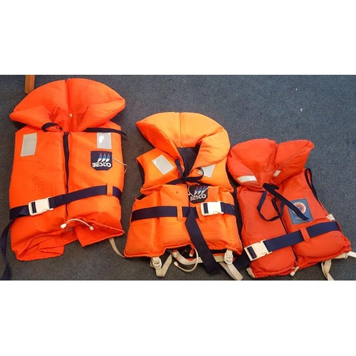 129 - Three Life Jackets (1 x Adult Size M, 1 x Adult Size S and 1 x Child Size)...