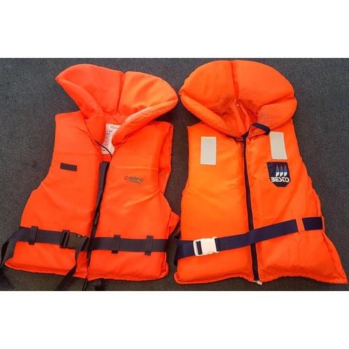 130 - Two Orange Life Jackets (2 x Adult Size L)...