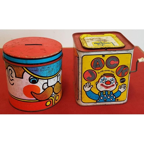 320 - Jack-in-the-Box Toy and Money Box...
