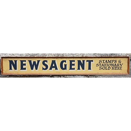 1 - Newsagent's Sign (Film prop). Handpainted. 160cm x 23cm...