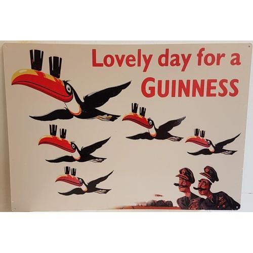 24 - <em>'Lovely Day for a Guinness'</em> Advertising Sign - c. 27.5 x 19.5ins...