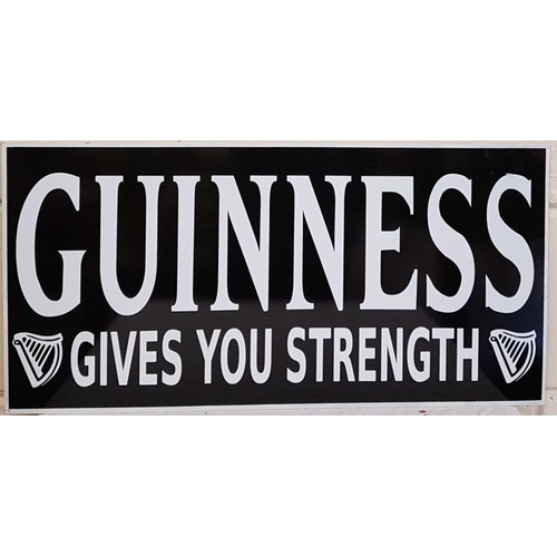 27 - Guinness Gives You Strength Advertising sign, c.24.5 x 12in...