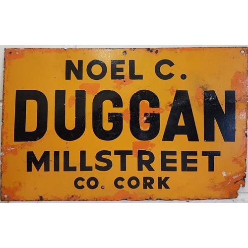 28 - Old Irish Enamel sign, 'Noel C. Duggan, Cork', c.24 x 15in...