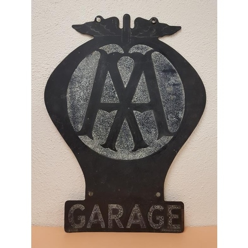 29 - Vintage Double sided AA Garage Sign, c.17 x 22.5in...